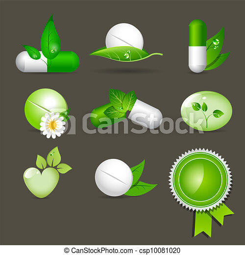 medicine icons - csp10081020