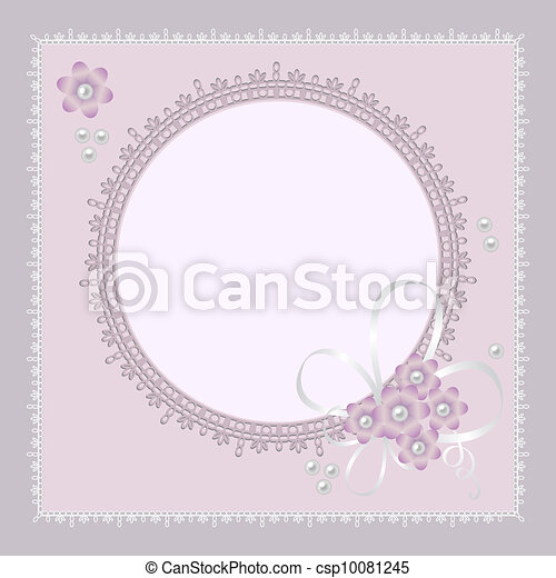 Vector ornate lace background - csp10081245