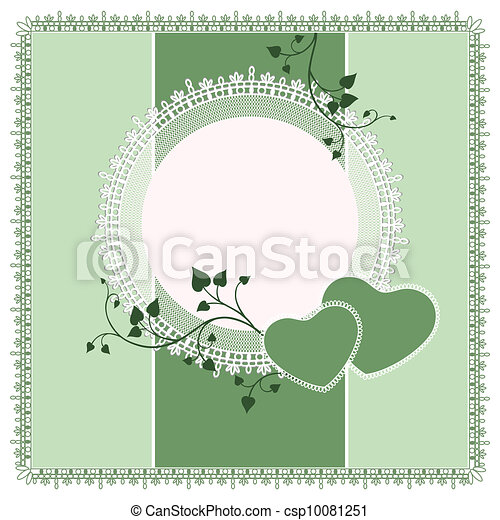 Vector ornate lace background - csp10081251