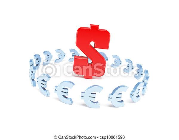 dollar domination over euro - csp10081590