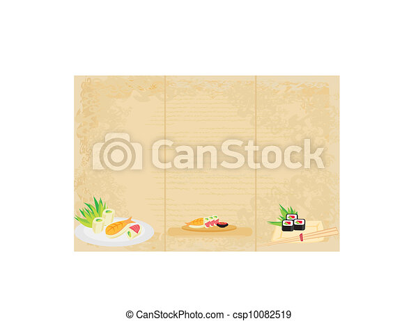 template of traditional Japanese food menu - csp10082519