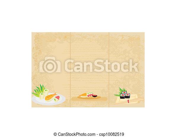 template of traditional Japanese food menu  - csp10082519