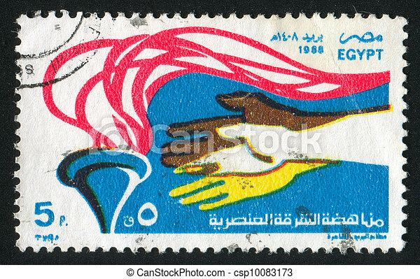 Racial Discrimination Emblem - csp10083173