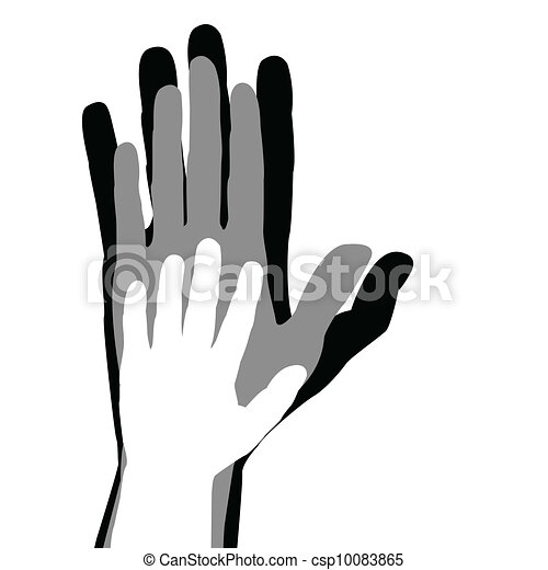 Family concept with mother, father and child hands - csp10083865
