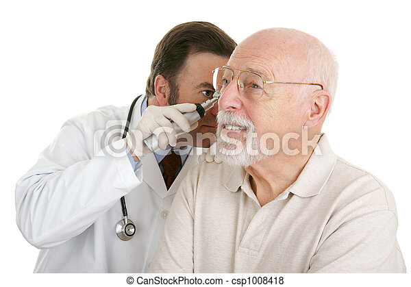 Senior Medical - Checking Ears - csp1008418