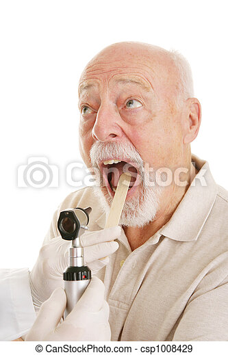 Senior Medical - Say Ahhh - csp1008429