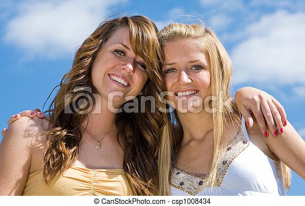Beautiful Teen Sisters - csp1008434