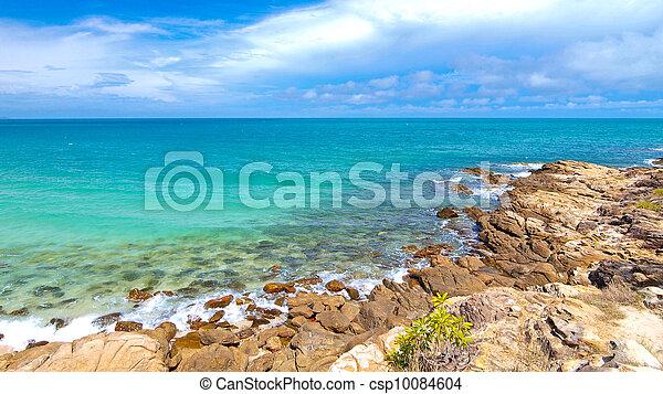 Idyllic Scene Beach at Samed Island, Thailand - csp10084604