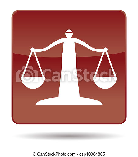 icon of justice scales - csp10084805