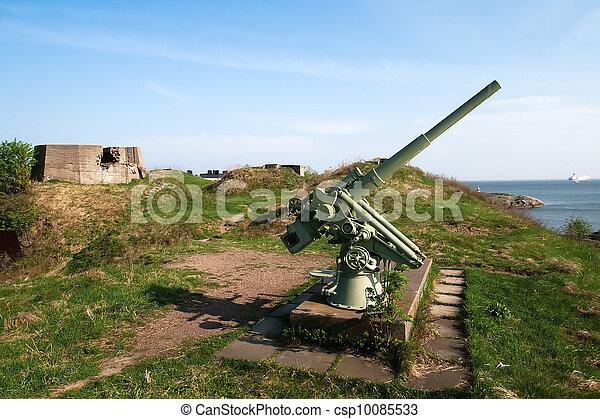 anti-aircraft gun - csp10085533