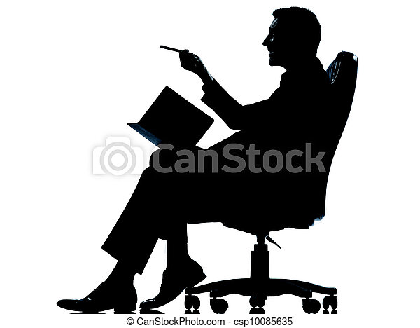 Stock Photos Of One Caucasian Business Man Sitting In