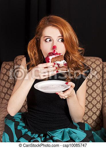 Secretamente cum en su comida