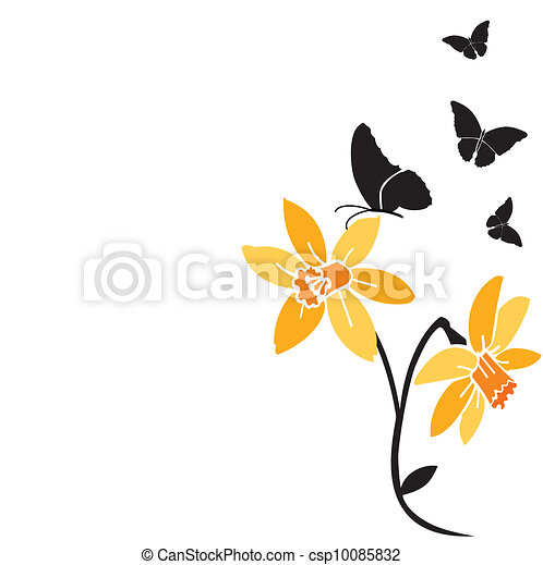 black butterflies - csp10085832