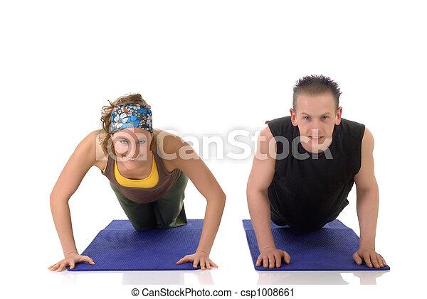 Fitness exercise - csp1008661