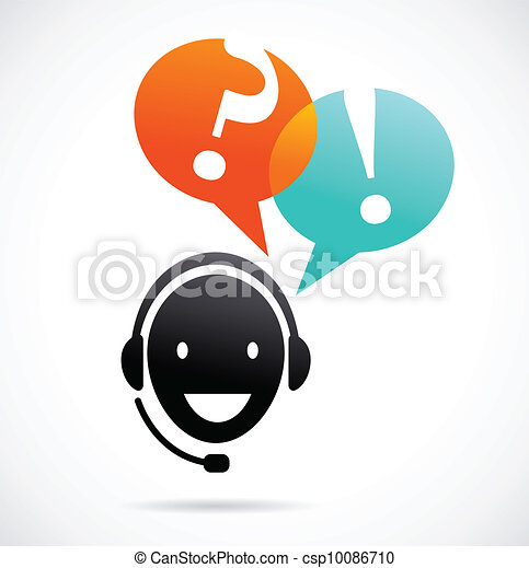 customer support with headphones - csp10086710