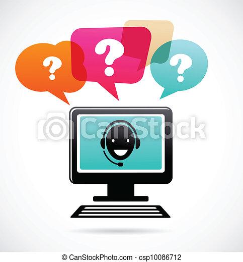 customer support with headphones - csp10086712