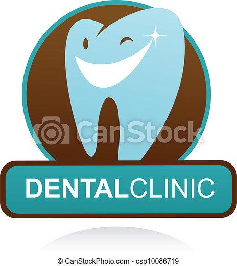 dental clinic vector icon - smile tooth - csp10086719