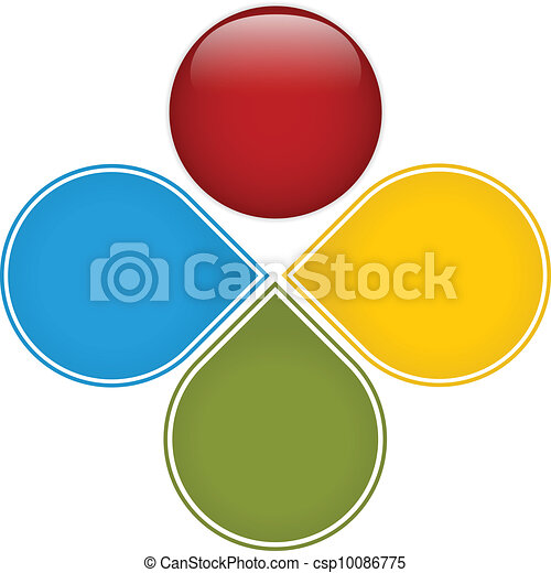 Colorful Business Diagram Glossy - csp10086775