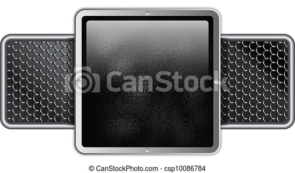Hammered Metal Silver Square - csp10086784