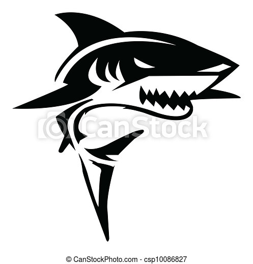 Shark Vector Illustration - csp10086827