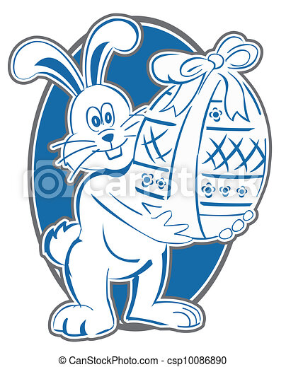 Rabbit Easter Symbol - csp10086890