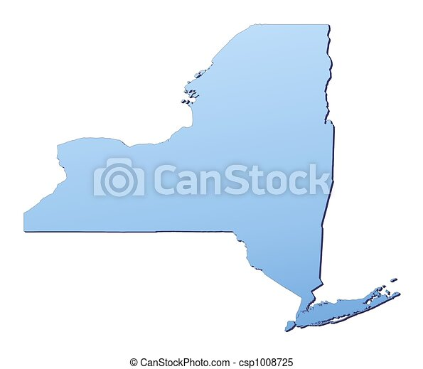 New York(USA) map - csp1008725
