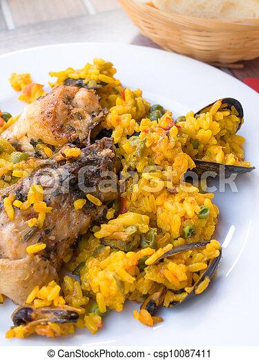 traditionnal spanish food paella  - csp10087411