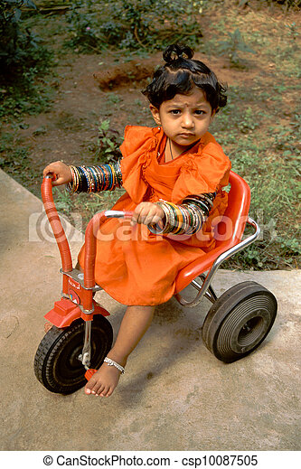 Baby, Bangles and Tricycle - csp10087505
