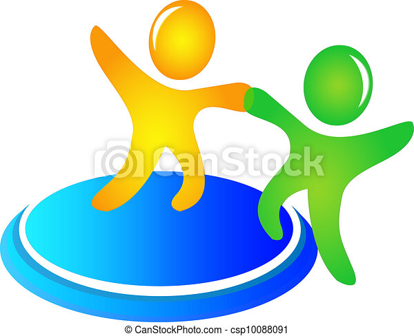 Teamwork helping logo vector - csp10088091