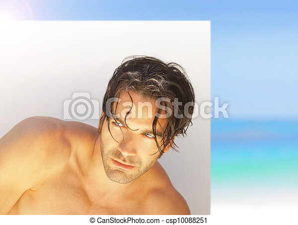 Man with tan - csp10088251