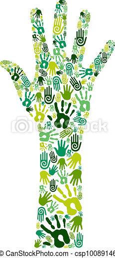 Go green collaborative hands - csp10089146