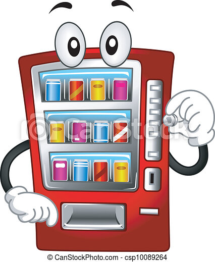 Vending Machine Mascot - csp10089264