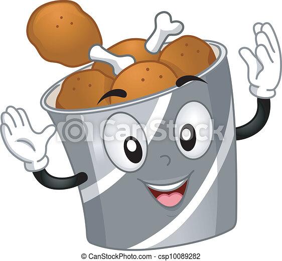 Chicken Bucket Mascot - csp10089282