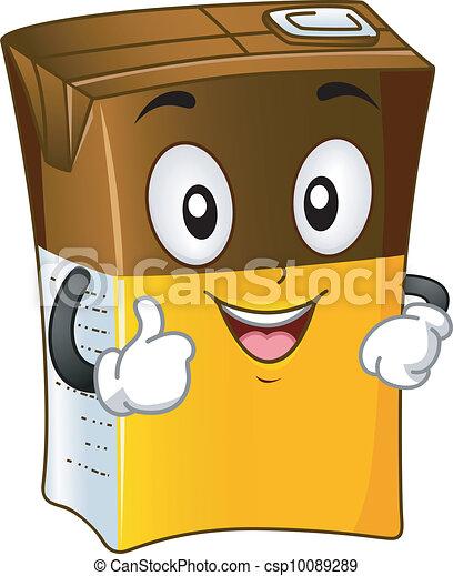 Chocolate Drink Mascot - csp10089289