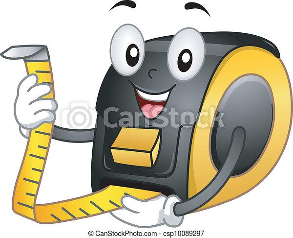 Tape Meter Mascot - csp10089297