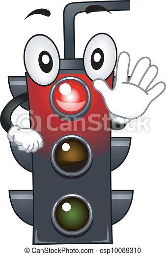 Stoplight Mascot - csp10089310