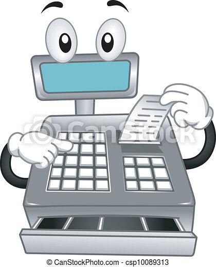 Cash Register Mascot - csp10089313