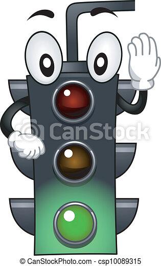 Stoplight Mascot - csp10089315