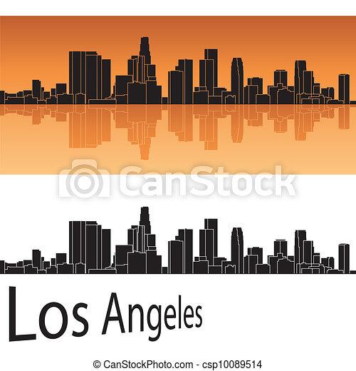 Los Angeles skyline - csp10089514