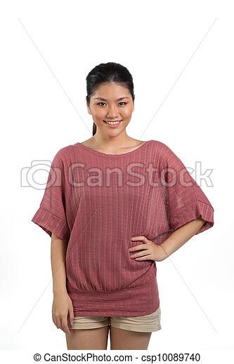 Beautiful young asian woman in her twenties. - csp10089740