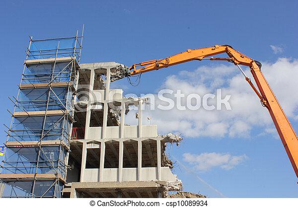 Demolishing of a building - csp10089934