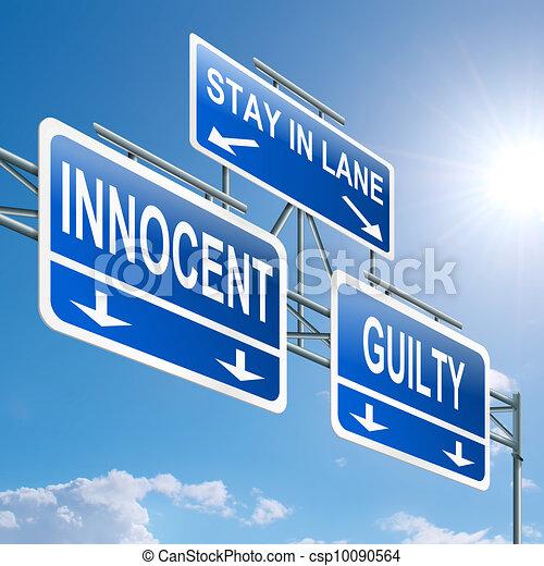 Guilty or innocent. - csp10090564