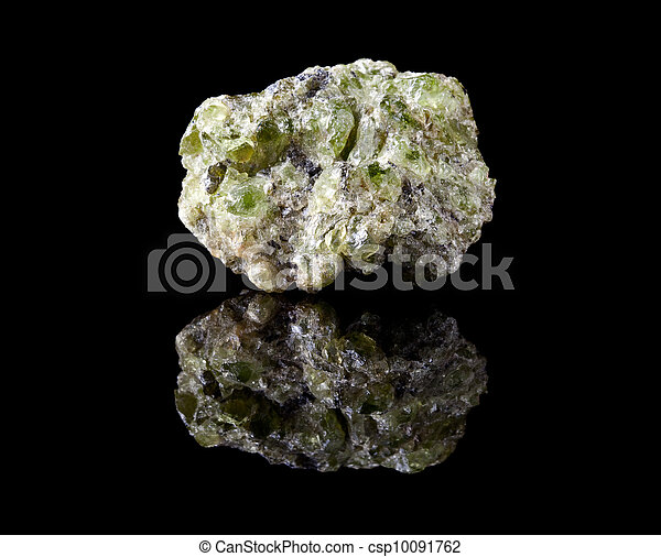 Peridote or olivine crystals - csp10091762