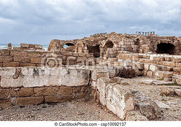 Ruins of roman period in caesarea - csp10092137