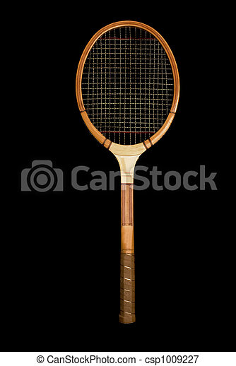 image de bois vendange tennis raquette vendange bois tennis csp1009227 recherchez. Black Bedroom Furniture Sets. Home Design Ideas