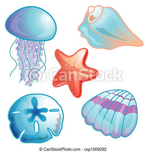 Beach icon set illustration - csp1009292