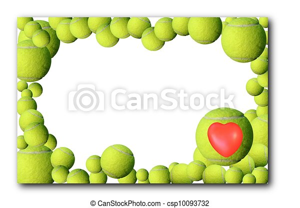 Lot of tennis balls  frame - csp10093732