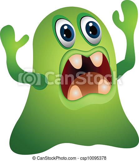 funny monster cartoon - csp10095378