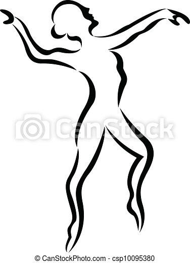 Ballet art silhouette - csp10095380