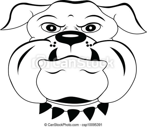 Vecteurs eps de t te chien dessin anim illustration - Dessin tete de chien ...